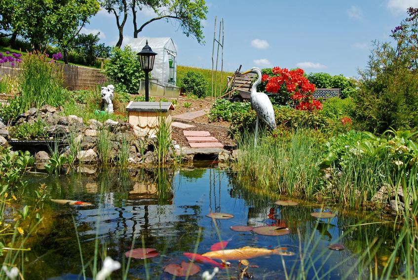 Lässt das Gärtnerherz höherschlagen: Liebevoll angelegter Gartenteich.