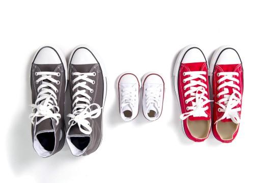 Verschieden große Menschen brauchen verschieden große Schuhe.