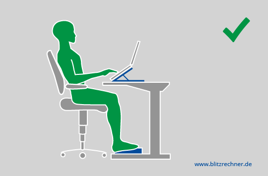 Ergonomisch Sitzen: Optimale Höhe Von Tisch/Stuhl Berechnen