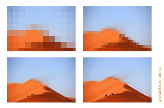 Bild Auflösung Erhöhen