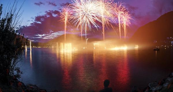Entfernung von Feuerwerk berechnen