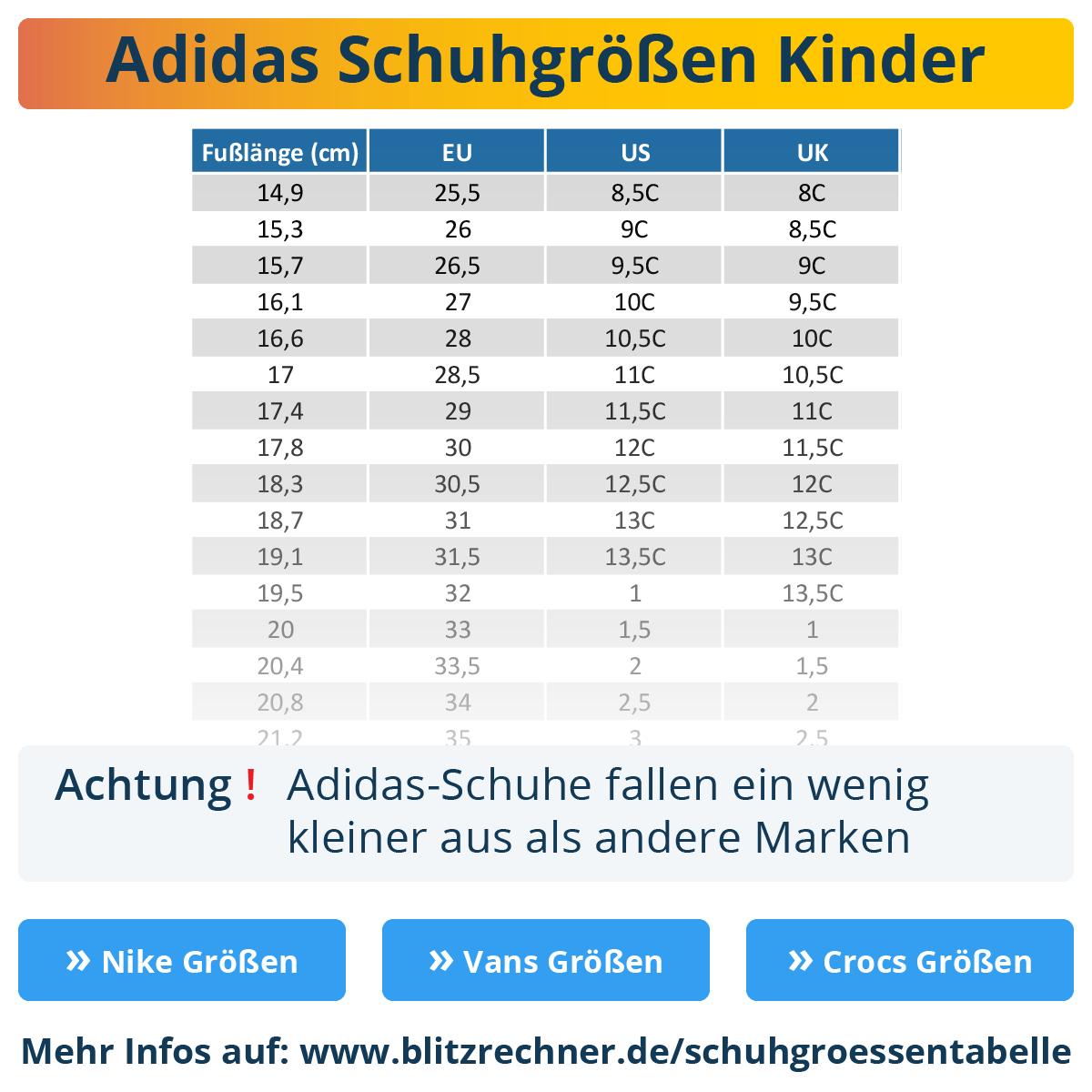 Adidas Schuhgrößen: Deine Größe + So fallen Adidas aus