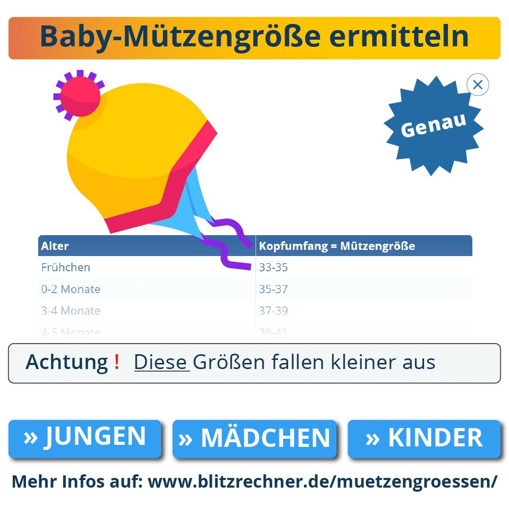baby mützengröße