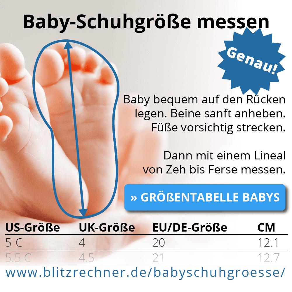 Baby Schuhgrößen messen