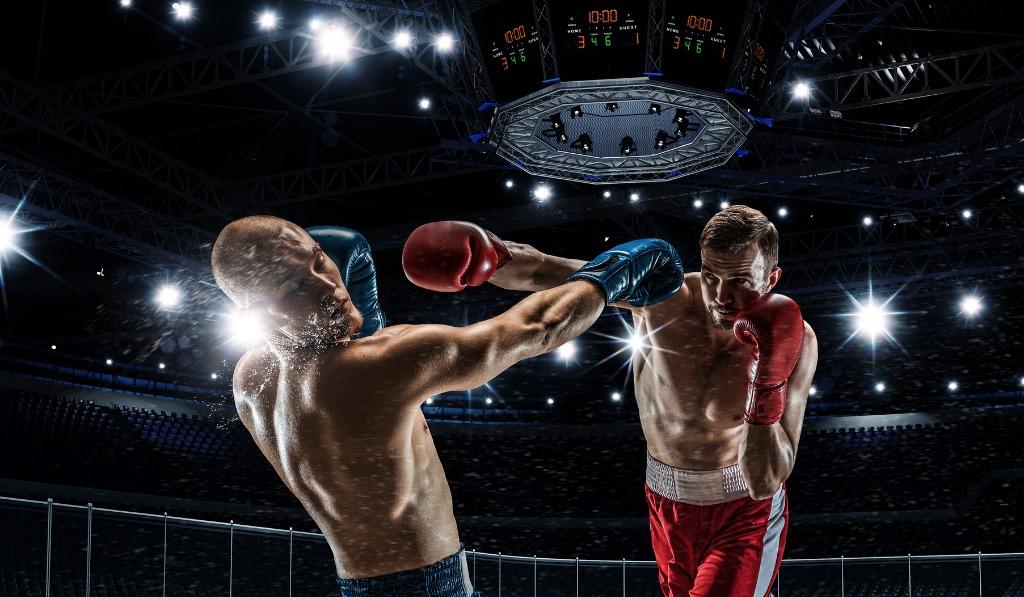 Boxhandschuhe beim Boxkampf