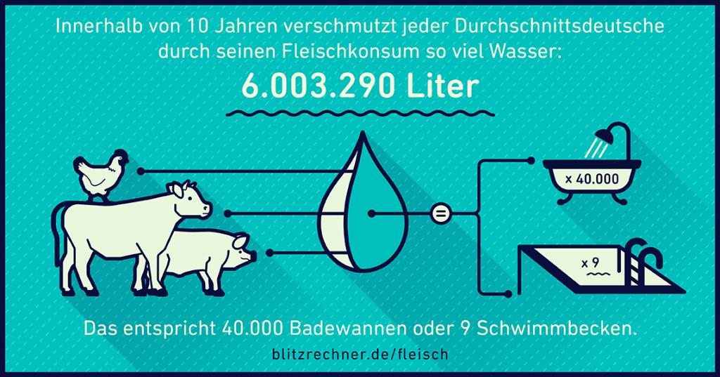 Infografik Wasserverbrauch Fleisch