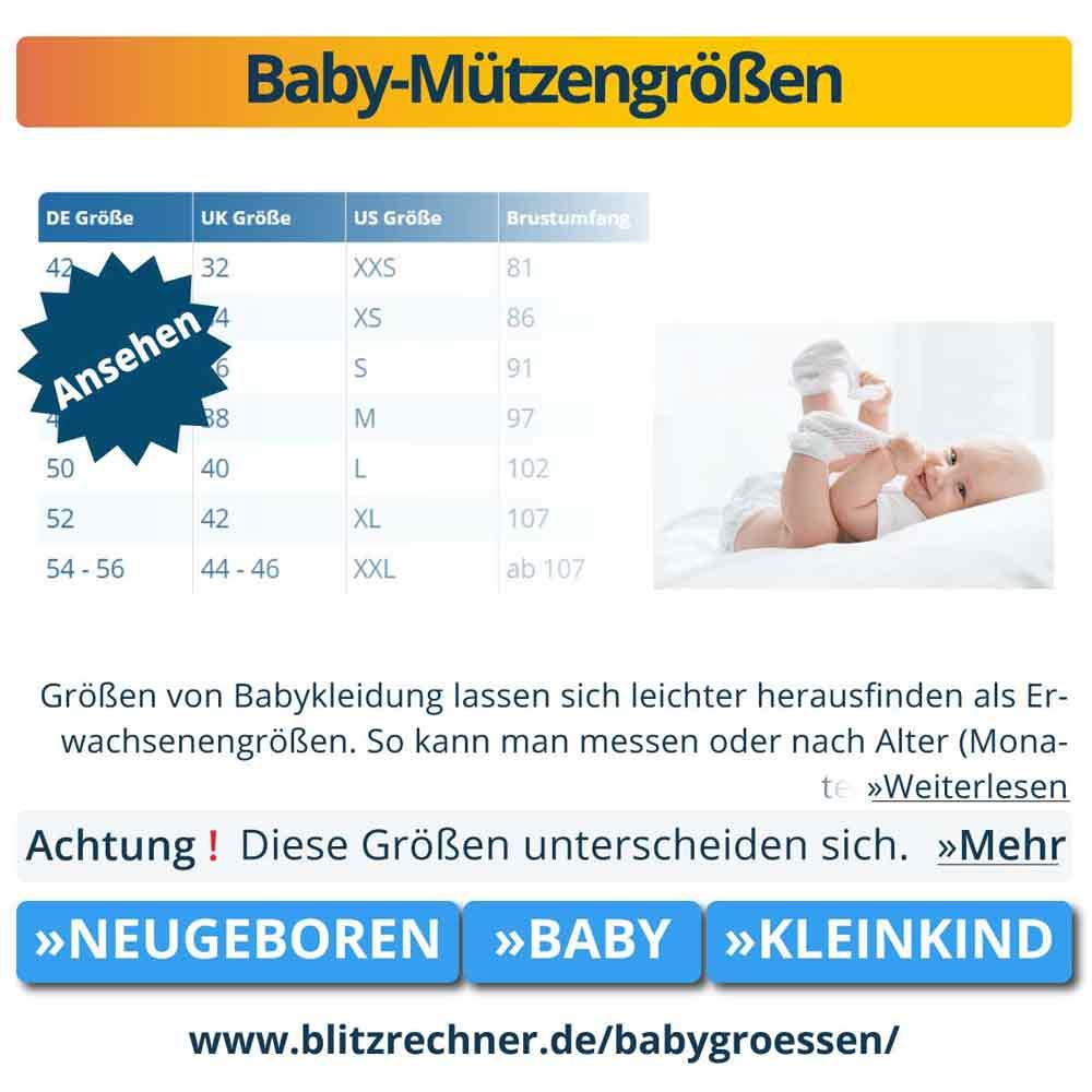 Baby-Mützengrößen