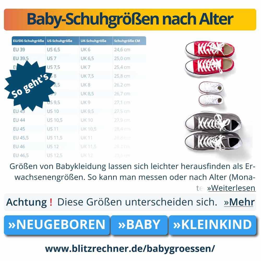 baby-größentabellen: babygrößen messen & größe nach alter