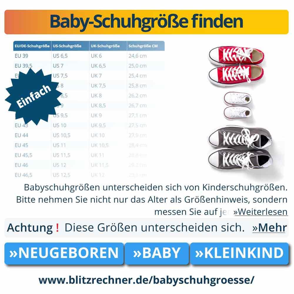 Baby-Schuhgröße finden