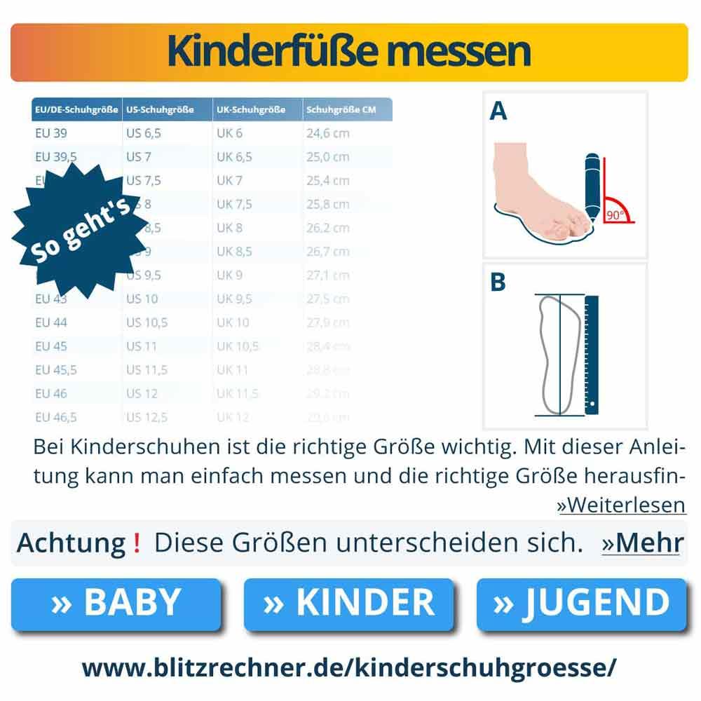 Kinderfüße messen