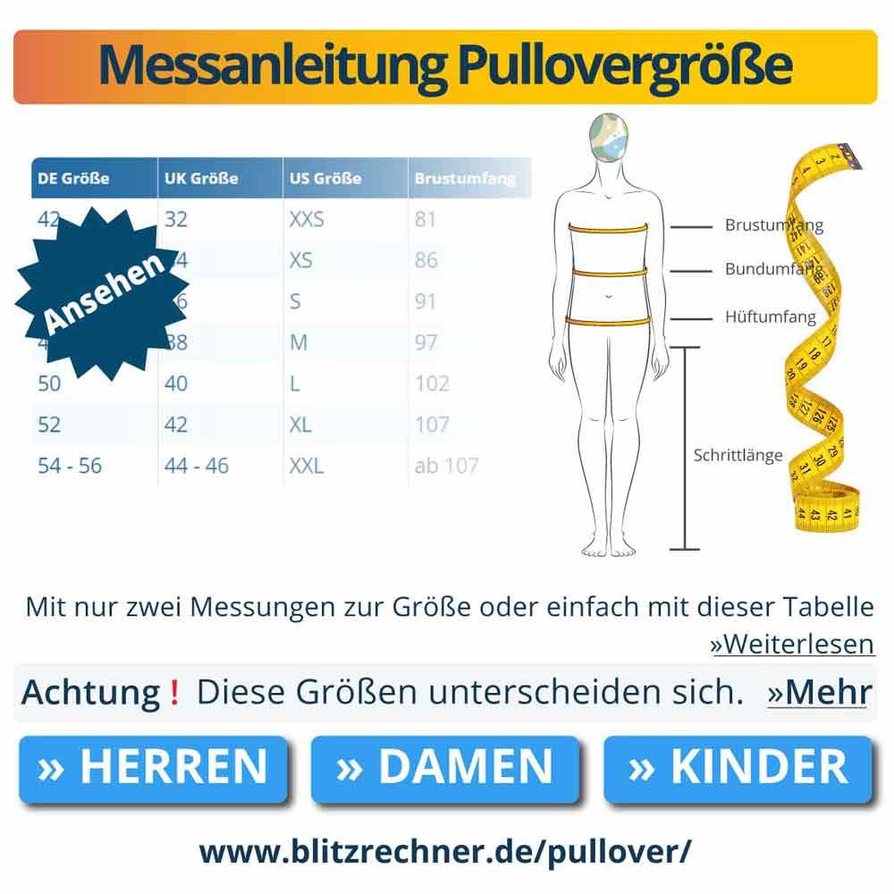Messanleitung Pullovergröße