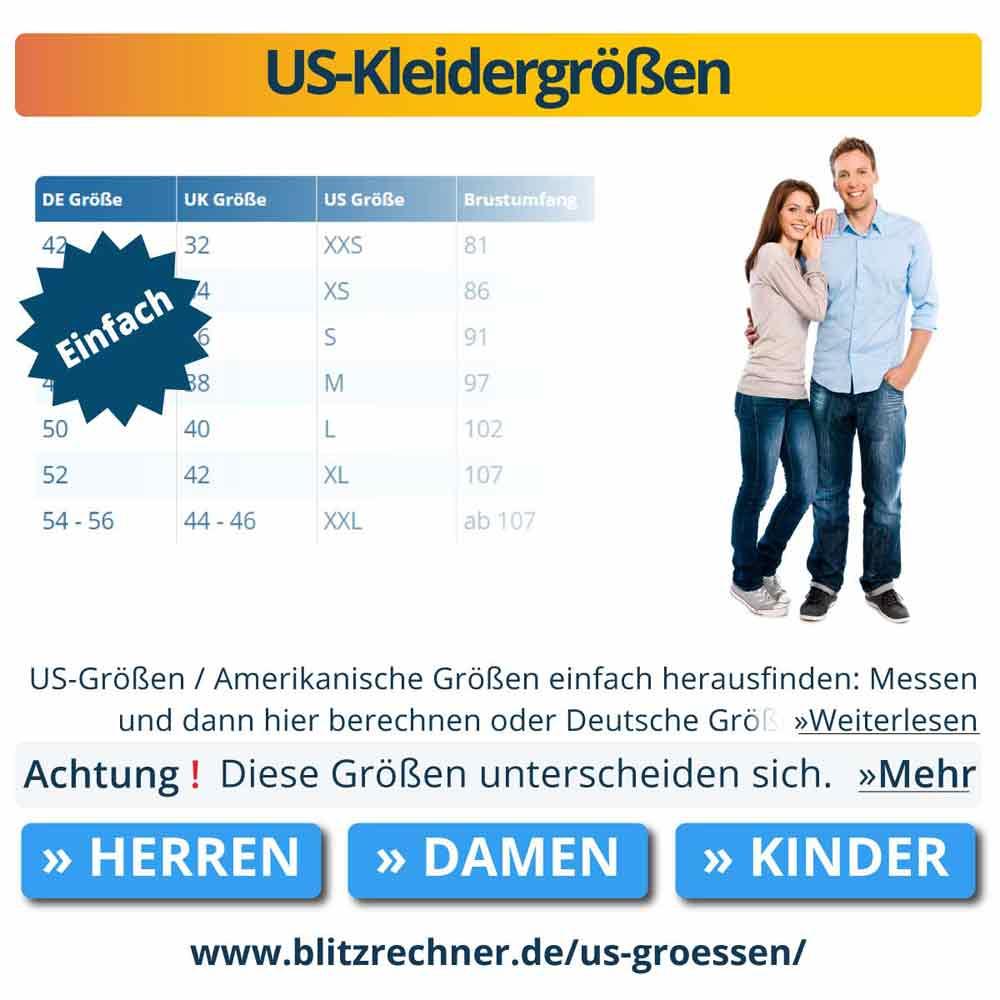 US-Kleidergrößen