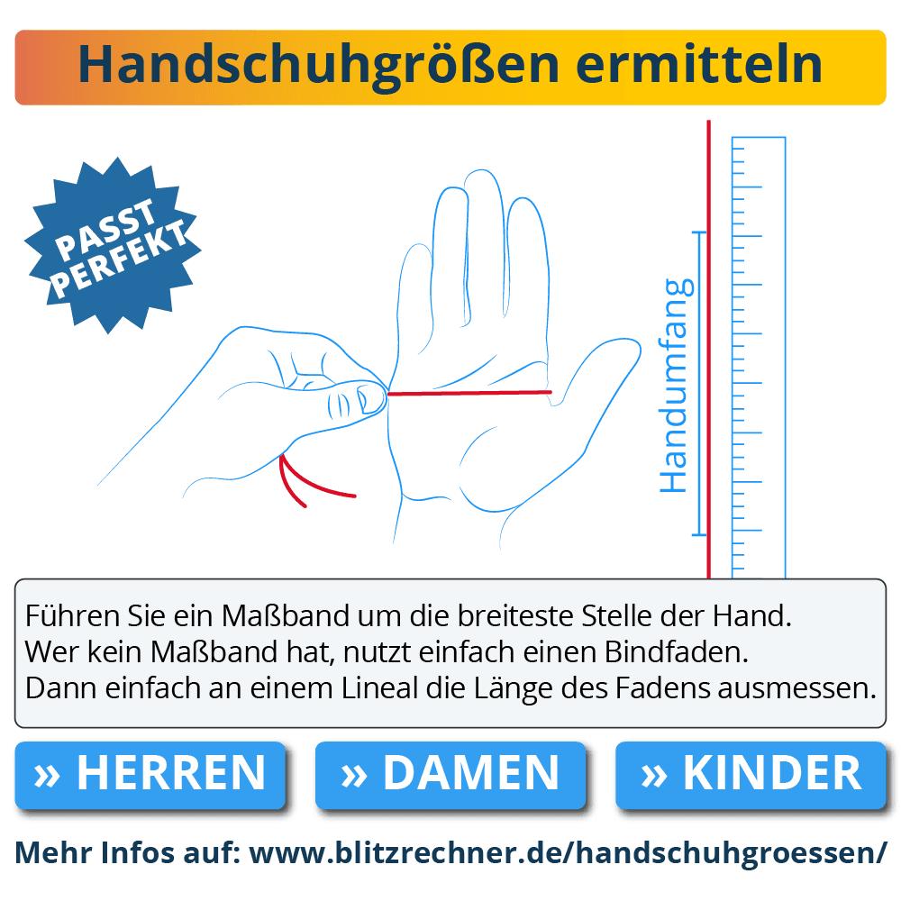 Handschuhgrößen ermitteln