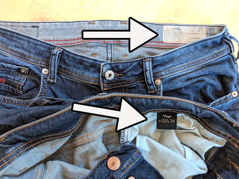 Neuestes Design offizieller Shop erstaunliche Qualität Jeansgröße: Gößentabelle, Messanleitung, Umrechner + Faustformel