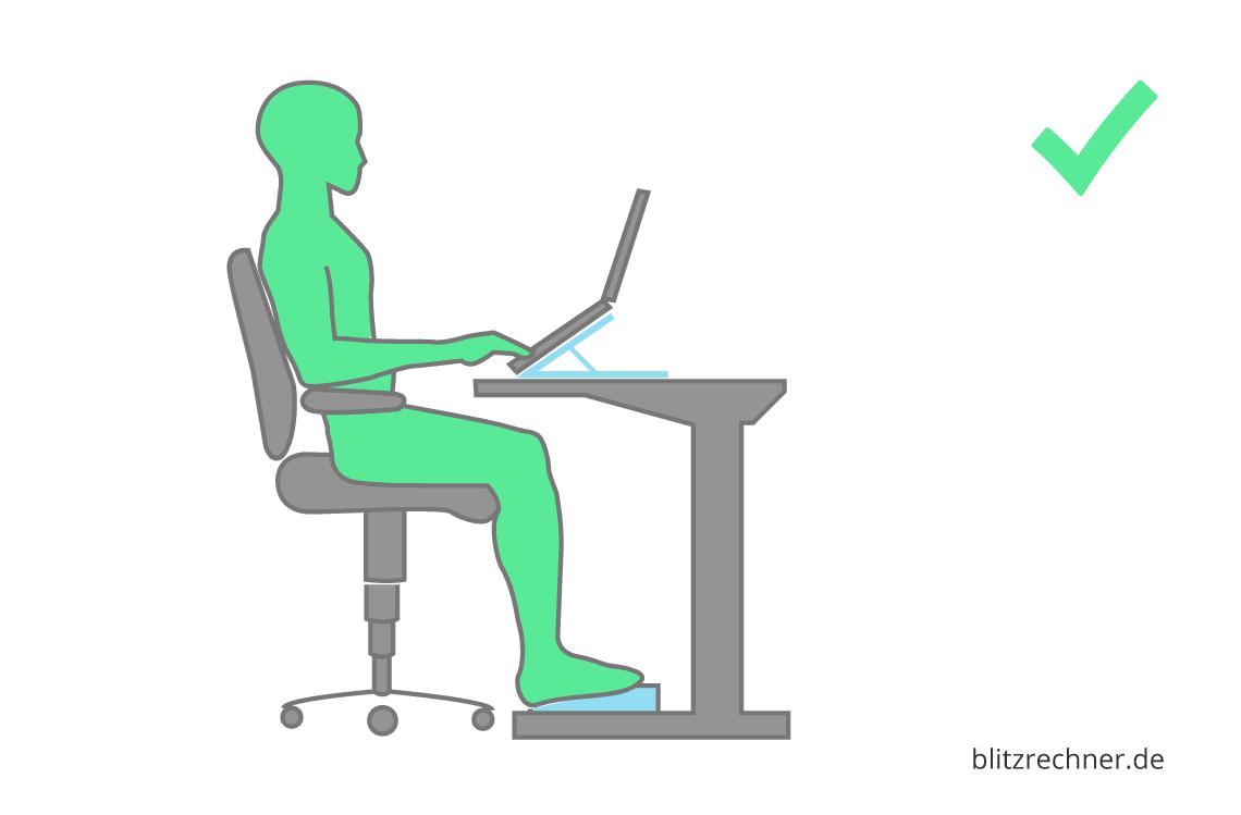 Ergonomisch Sitzen Optimale Höhe Von Tischstuhl Berechnen