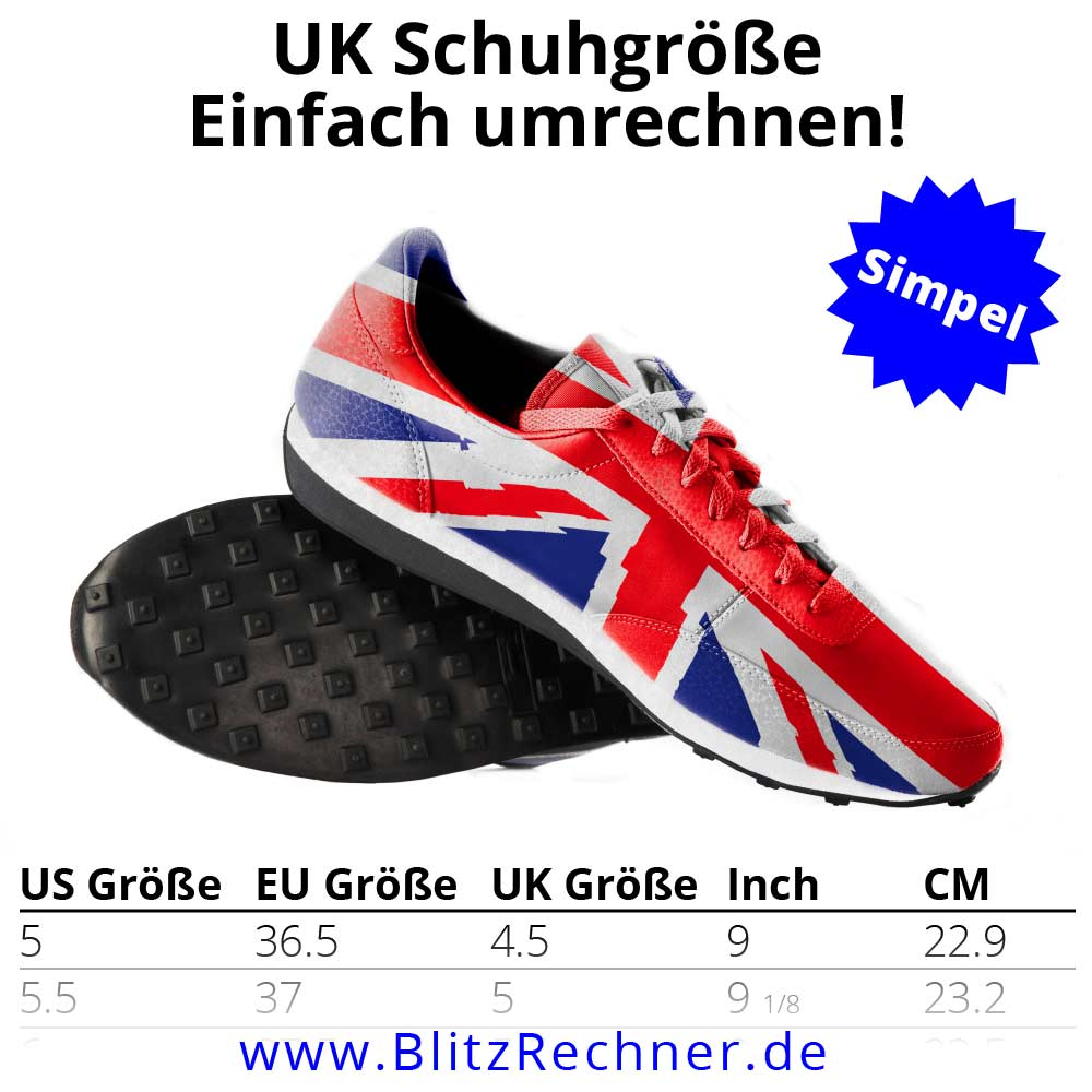 UK Schuhgrößen die englischen Schuhgrößen umrechnen