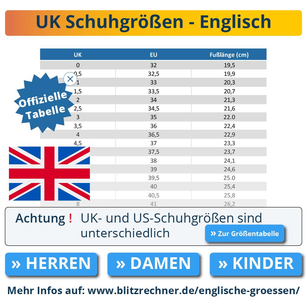 englische größen: uk-größentabellen umrechnen » de, eu