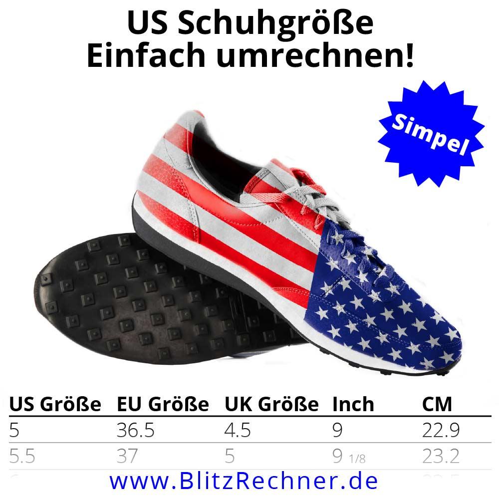 US Schuhgrößen
