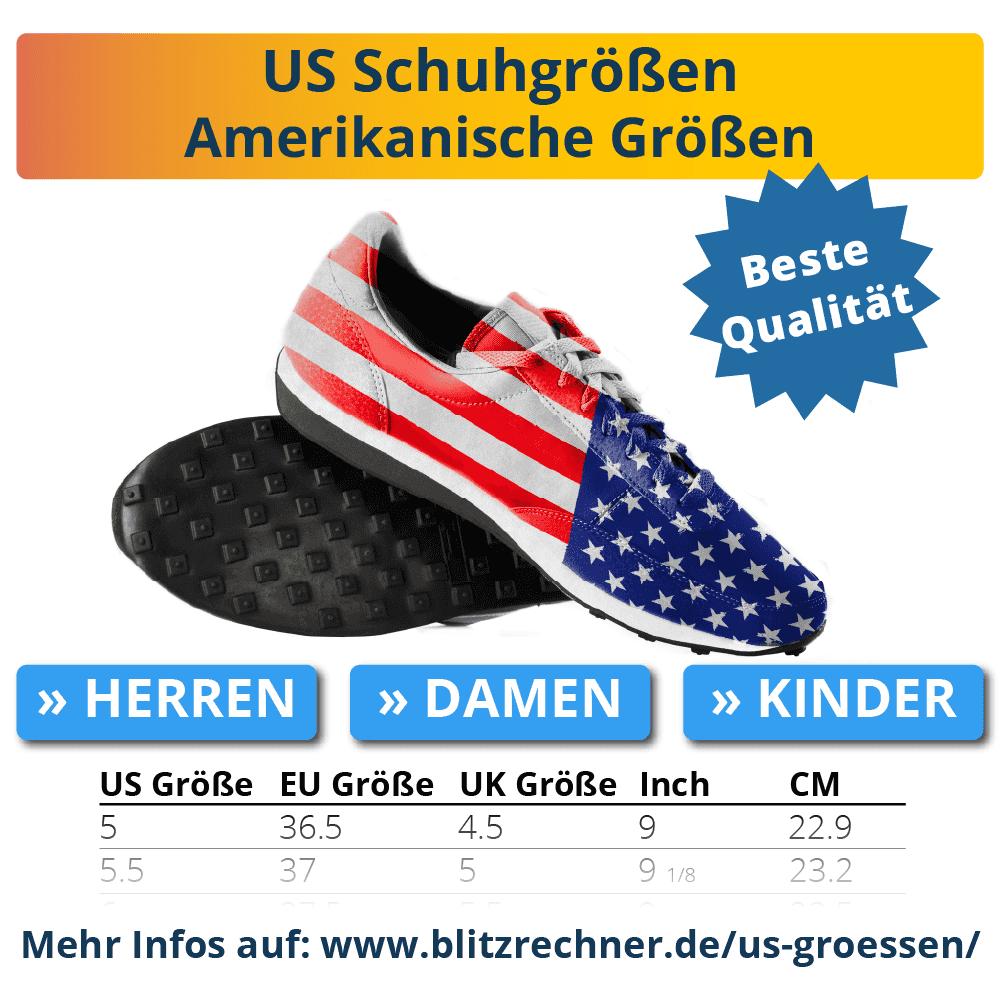 Amerikanische Schuhgrößen US